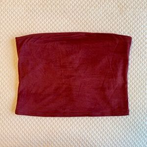 UO NWT maroon suede tube top